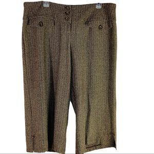 Torrid Brown Crop Wide Leg Dress Pants Size 14